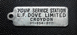 Key fob for the Croydon branch of L F Dove