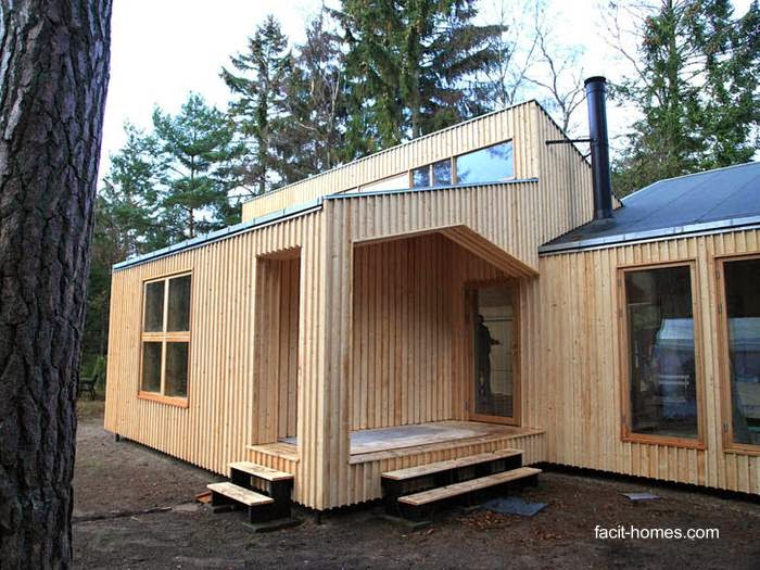 Casa contemporánea de madera construida con sistema innovador en Dinamarca