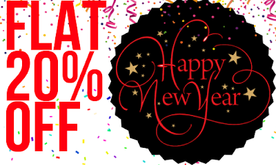 Happy New Year- Flat 20% Off
