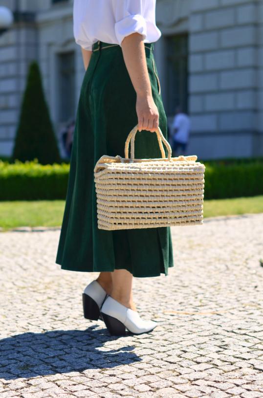 skórzana spódnica midi (leather skirt )