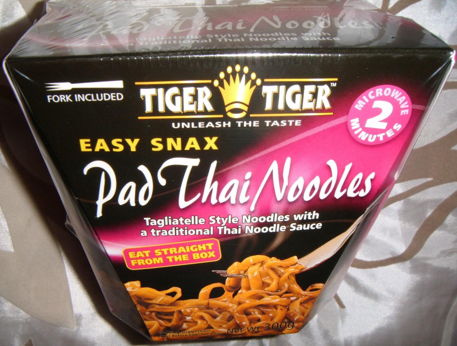 Foodstuff Finds Tiger Tiger Easy Snacks Pad Thai