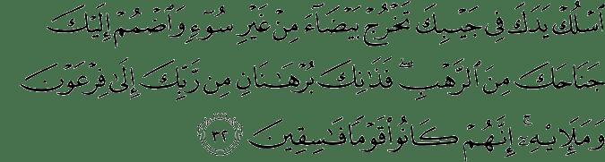 Surat Al Qashash ayat 32