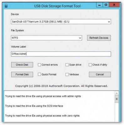 HP USB Disk Storage Format tool 2020