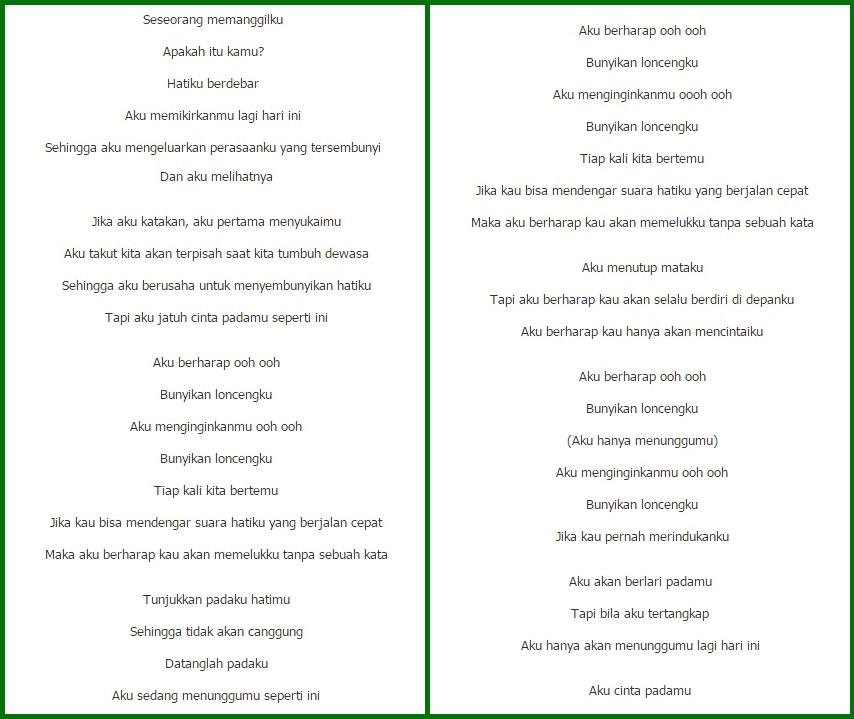 terjemahan lirik lagu korea
