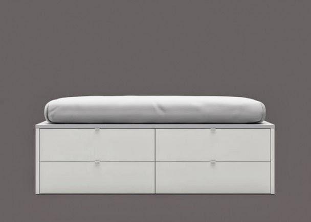 cama blanca moderna
