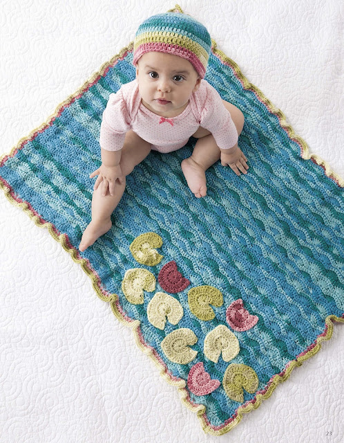 Water Lilies Set Crochet Pattern by Sara Leighton of Illuminate Crochet
