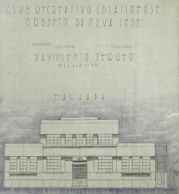 ID 515 - Projeto da nova sede do Clube Recreativo Colatinense, Colatina, janeiro-maio de 1944.