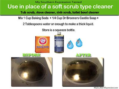 Homemade Non-Toxic Soft Scrub Type Cleaner Recipe