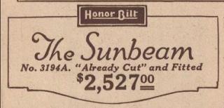 Sears Honor Bilt label for Sears Sunbeam