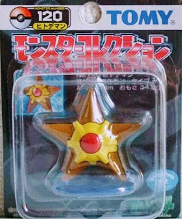 Staryu Figure with pther tone color Tomy Monster Collection black package series