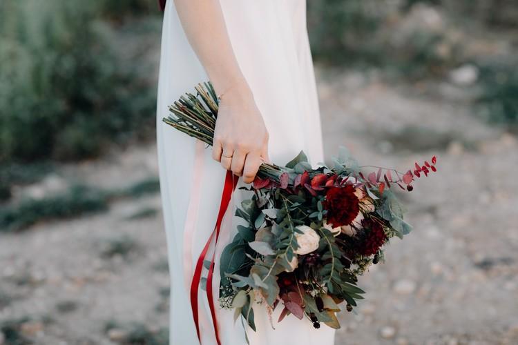 Bouquet de mariée, Château de la Gallée, bouquet d'automne, fleurs de saison,