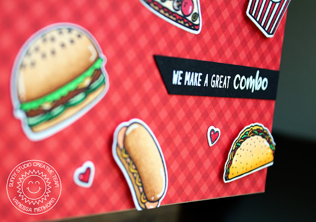Sunny Studio Stamps: Fast Food Fun We Make A Great Combo Card by Vanessa Menhorn