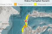 Gempa 7,7 SR Guncang Donggala Sulteng, BMKG Keluarkan Peringatan Dini Tsunami