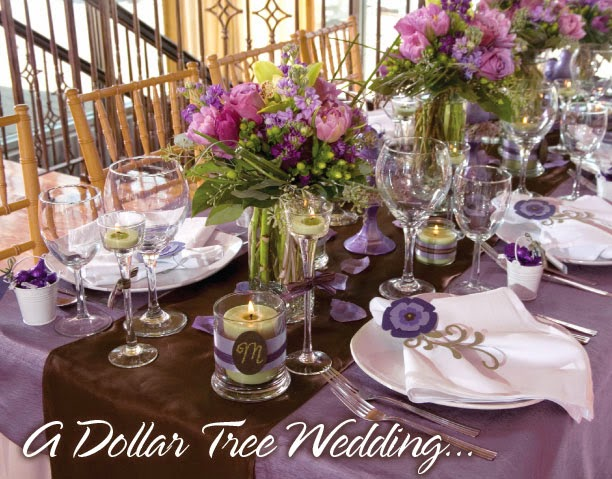 Instead of pouring your entire reception décor budget into the centerpieces, consider using part of that budget to rent extras like colored glassware—it'll make your tables pop in an instant. From: A Country-Chic Wedding in Sonoma, California.