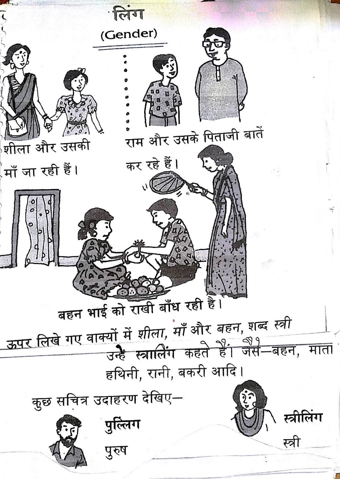 Workbooks hindi gender worksheets : Hindi Grammar Work Sheet Collection for Classes 5,6, 7 & 8: Gender ...