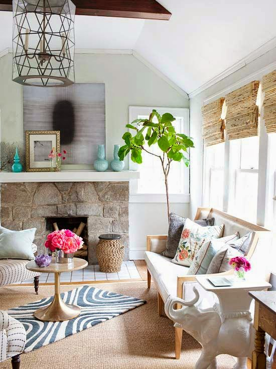 Living rooms with spring colors 1