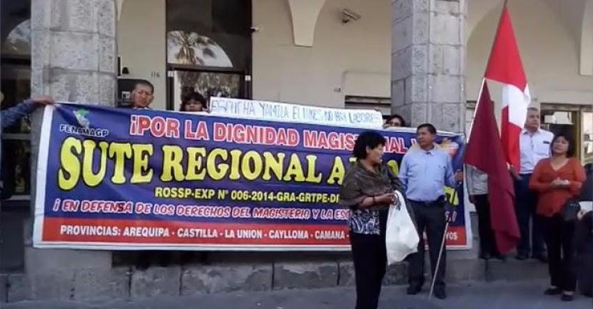 Profesores SUTEP Arequipa continuarán con huelga indefinida