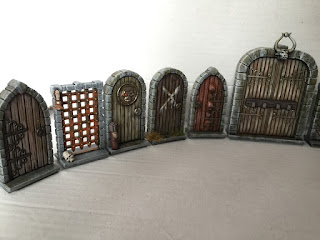 You can see that Iu0027ve added a magnetic strip to the bottom of the doors so I can incorporate them to my modular dungeon tiles & The Lost and the Very Damned: Dungeon doors