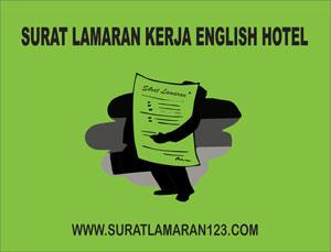 Contoh Surat Lamaran Kerja Bahasa Inggris untuk Hotel