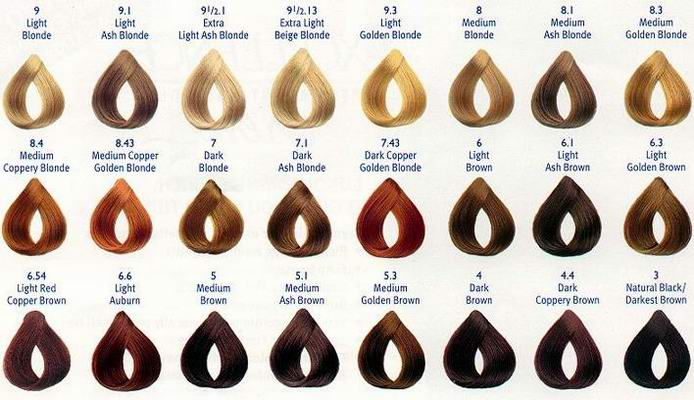 All Your Hair Style: Revlon Hair Color Chart