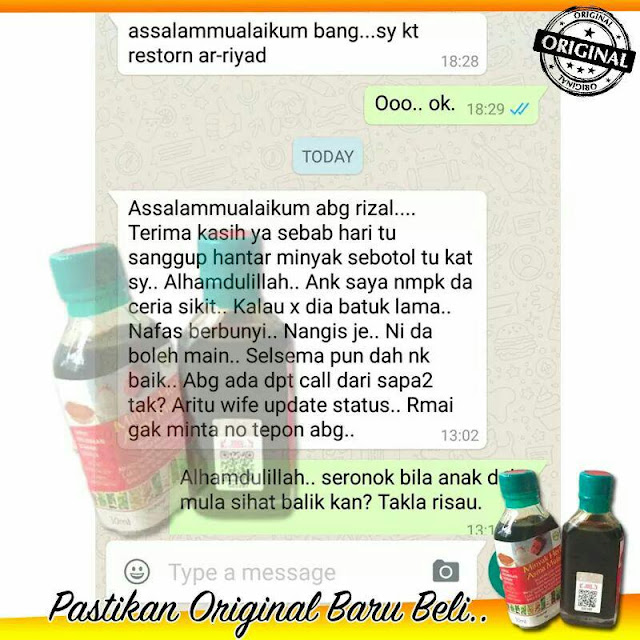 Testimoni Minyak Herba Asma Mujarab Original