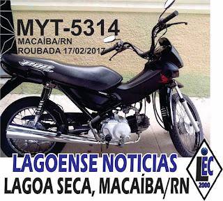 Vitima de assalto procura sua moto roubada em Macaíba