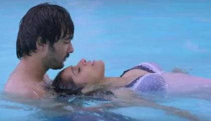 reshmi hot in nee sontham song