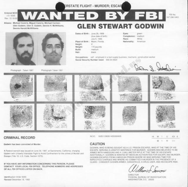 Glen Stewart Godwin adalah salah satu buronan yang paling dicari fbi