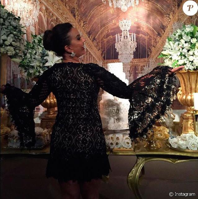 Solange Couto, festa 60 anos estilo debutante, vestido para balada preto