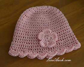 sun hat free crochet pattern-baby hat pattern-crochet hat pattern-6-12 month