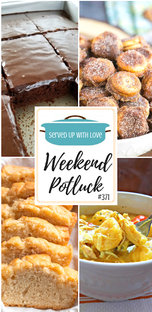 Weekend Potluck featured recipes include Ritz Bits Churros, Old Fashioned Chicken and Dumplings, Beer Bread, The Best Chocolate Sheet Cake, and so much more.