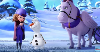 Olaf con la princesa sofia