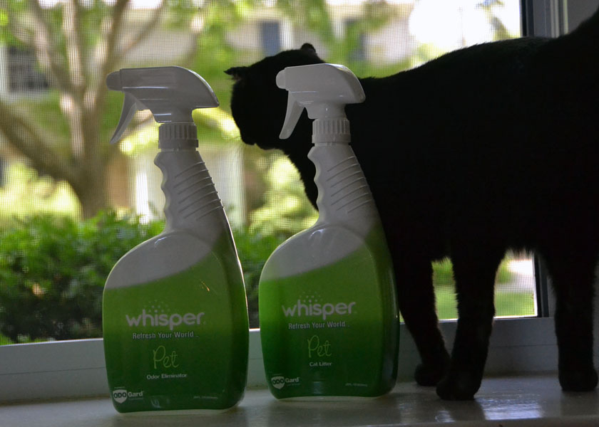 Whisper Pet is non-toxic and eliminates pet odors safely without the use of perfumes