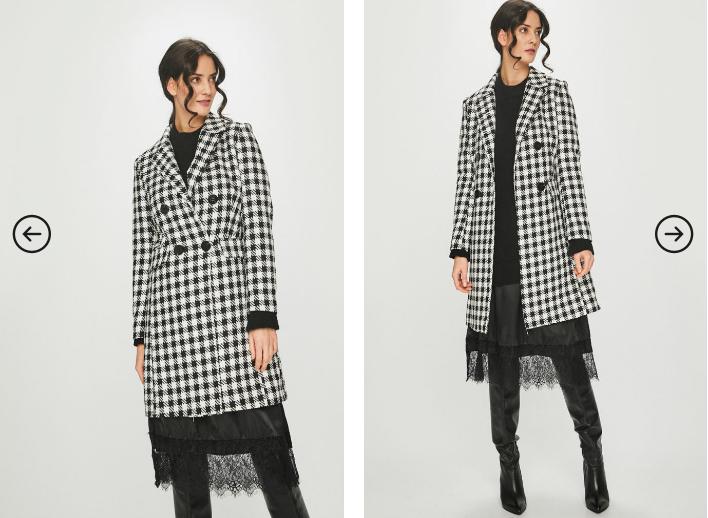 Answear - Palton dama in carouri pentru iarna-primavara ieftin frumos