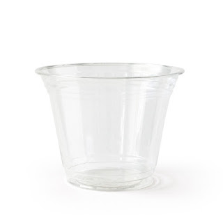 susty party clear compostable cups for wedding reception