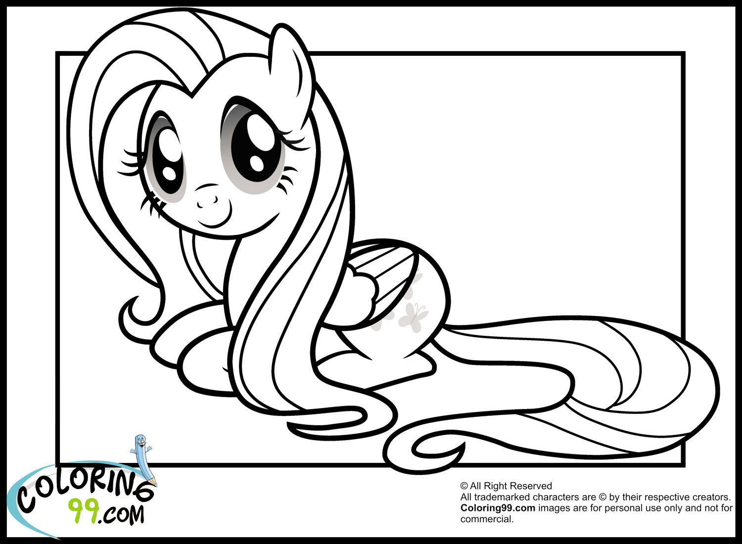 My little pony fluttershy coloring pages team colors for Fluttershy coloring pages