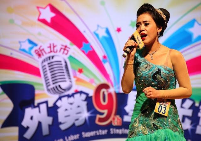 Eka, TKW Asal Indonesia di Taiwan Menjuarai Kontes Menyanyi di Taiwan