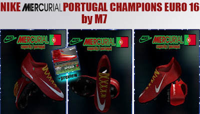 PES 2013 NIKE MERCURIAL PORTUGAL CHAMPIONS EURO 16 BY M7