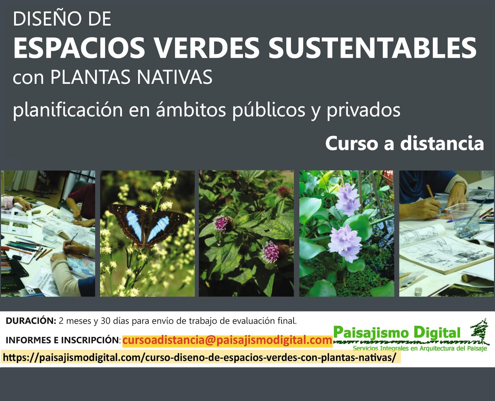 Jardiner a y paisajismo paisajismo sostenible for Curso diseno jardines
