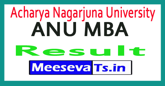 Acharya Nagarjuna University ANU MBA Results 2017