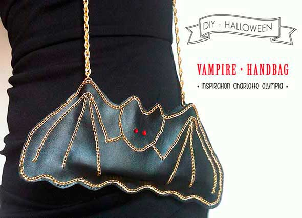 bolsos halloween, bolso murciélago, manualidades, fiestas