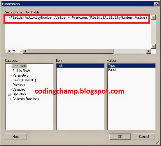 Coding Champ: SSRS Reports Hide Duplicate Records and White