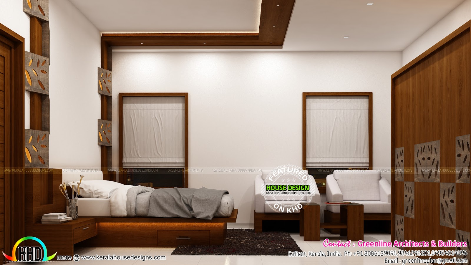 Interior designs of master bedroom kerala home design for Kerala interior designs