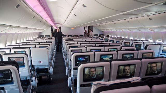 area atau tempat di dalam pesawat