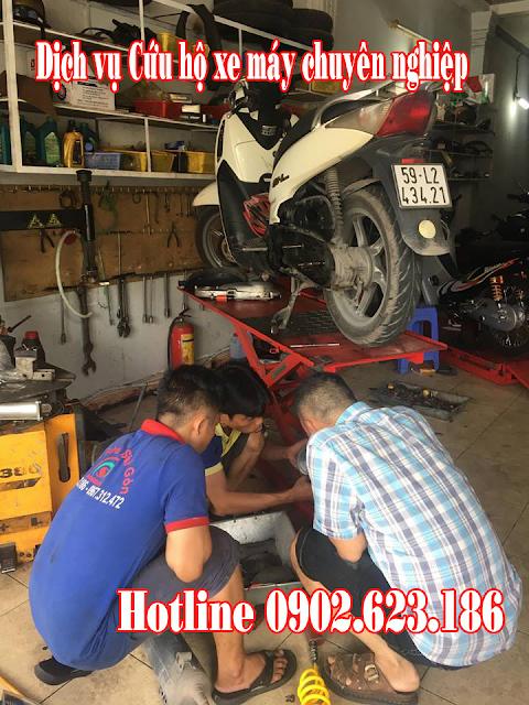 Cứu hộ xe máy Honda Sh Ý 150i tận nơi tại TpHCM