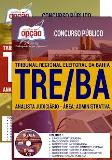 Apostila TRE da Bahia - Analista e Técnico Judiciário.