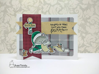 Naughty or Nice? a card by Diane Morales | Santa Newton Stamp Set by Newtons Nook Designs.