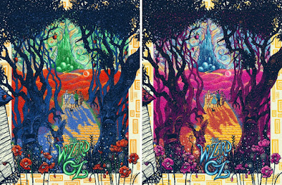 The Wizard of OZ Screen Prints by James Eads x Dark Hall Mansion - Standard Edition & Variant
