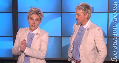 Ellen and her twin Ellen!