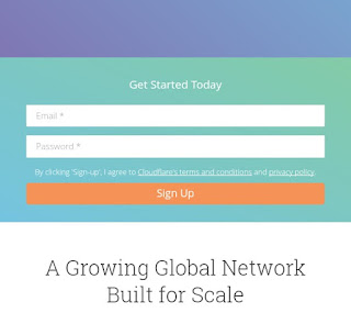 Sign up for cloudflare